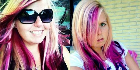 blond pinke haare