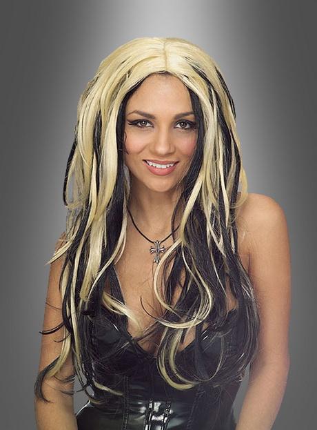 Blond schwarz haare