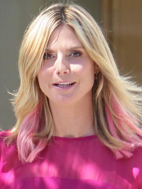 Blonde Haare Mit Pinken Str 228 Hnen