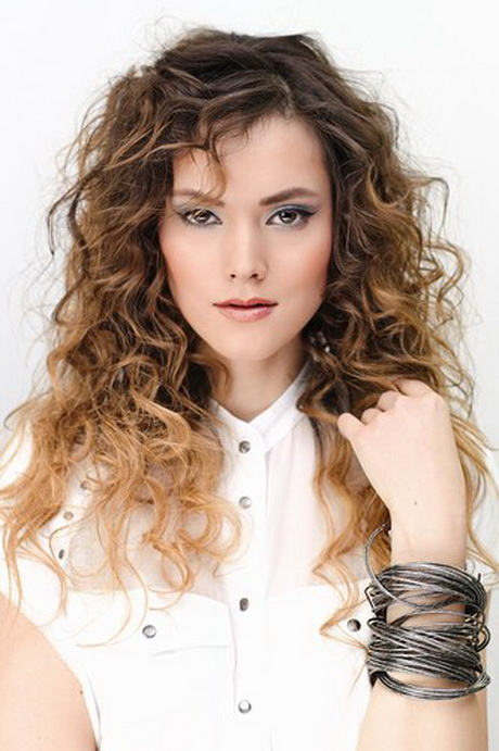 Blonde Ombre Natural Curly Hair