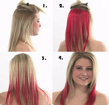 Haare Blond Rot