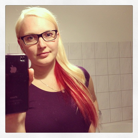 Blond rote haare