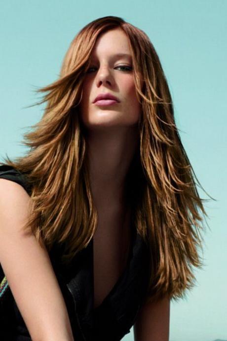 stufenhaarschnitt langes haar