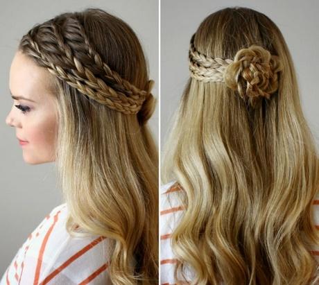 festliche frisuren lange haare flechten