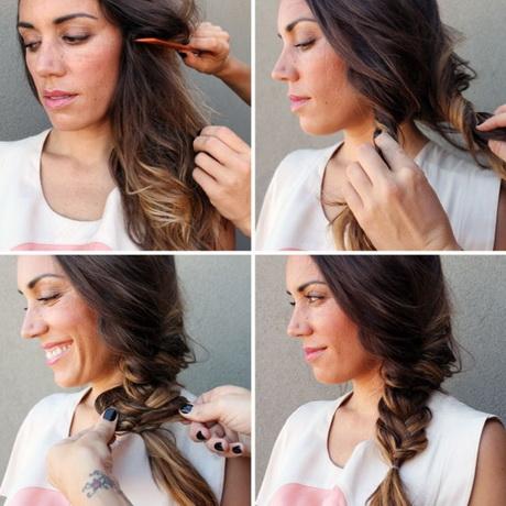 frisur lange haare flechten
