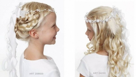 kommunion frisuren lange haare