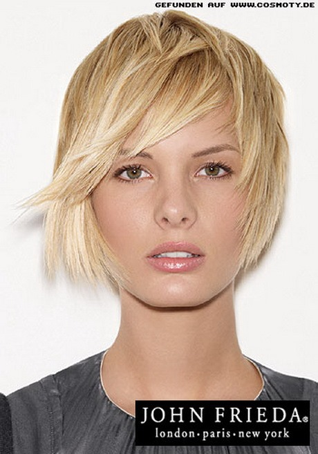 bob frisur blond mittellang