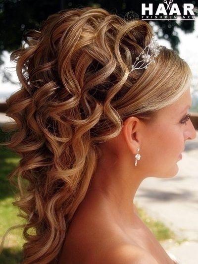 hochzeit frisuren halblange haare