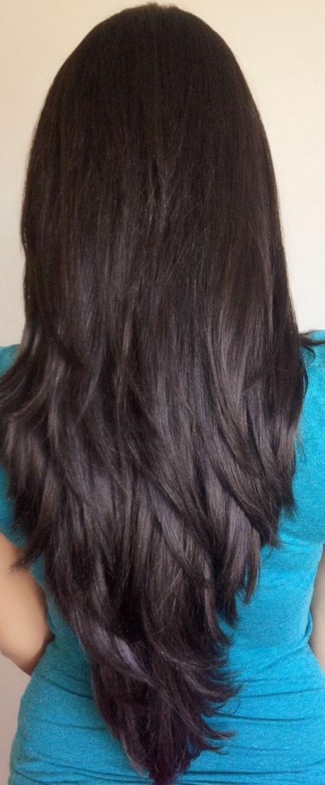U Shaped Haircut For Medium Hair Stufenschnitt lange ha...